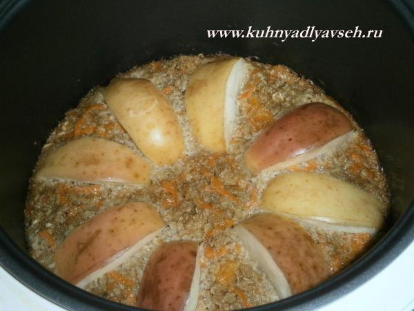 пирог из геркулеса с курагой и морковью