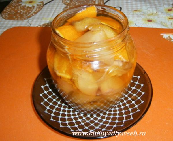 варенье из апельсинов и груш в мультиварке