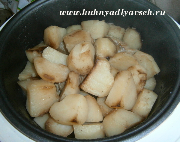 голень индейки с картофелем