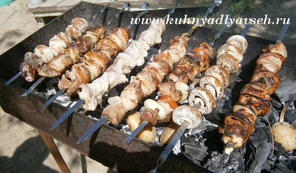 шашлык из свинины на мангале