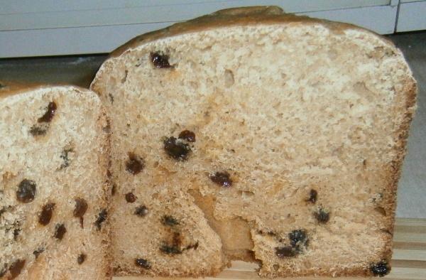 яблочный хлеб с изюмом