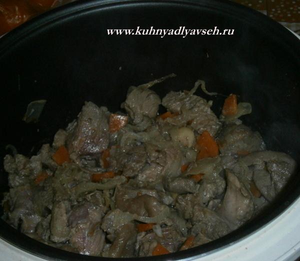 индейка с картофелем в мультиварке