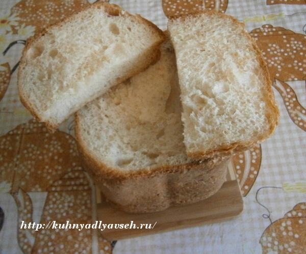 хлеб с манкой на кефире в хлебопечке