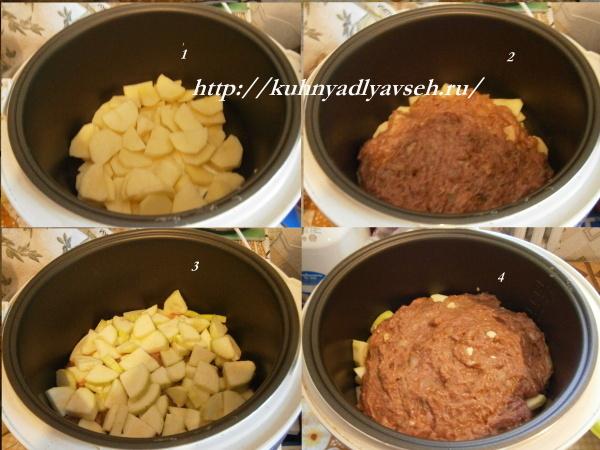 Ленивые кабачки с фаршем в мультиварке рецепты