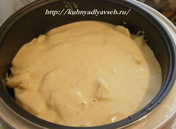 запеканка картофельная с фаршем и кабачками в мультиварке