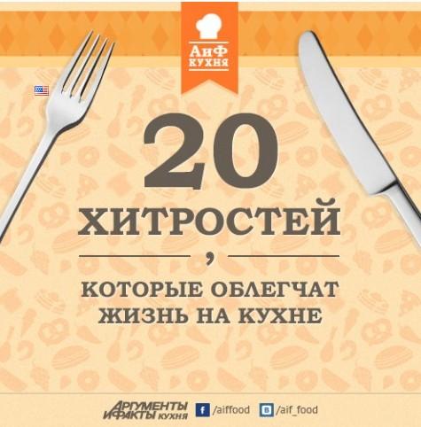 20 хитростей которые облегчат жизнь на кухне