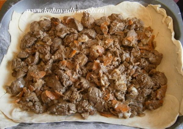 пирог из куриной печени
