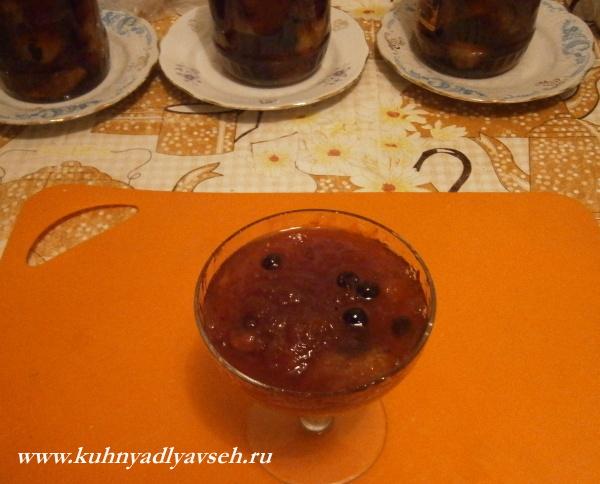варенье из яблок с черной смородиной