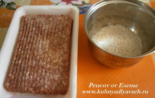 перец болгарский фаршированный мясом и рисом