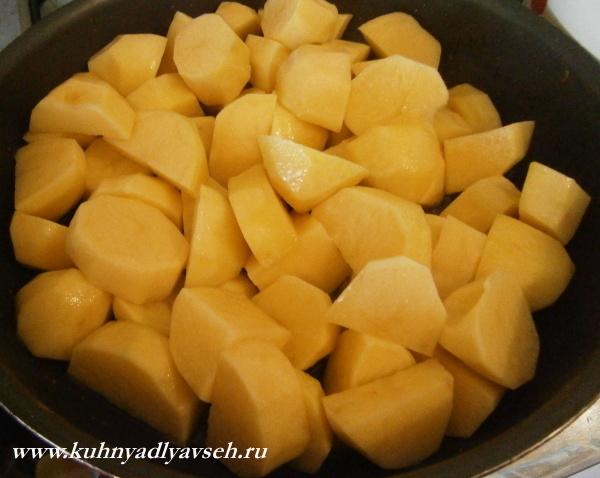 соус из курицы с картофелем