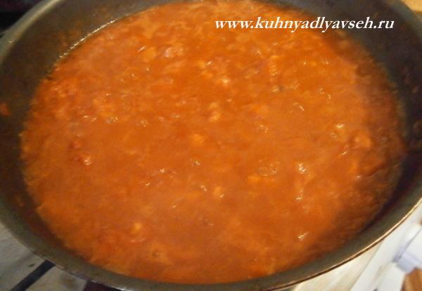 каннелони с фаршем в томатном соусе