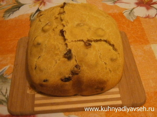 хлеб кукурузный с изюмом
