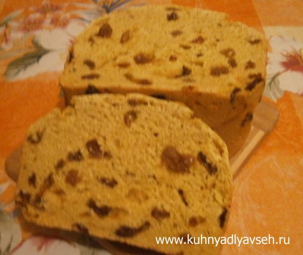 хлеб кукрузный с изюмом