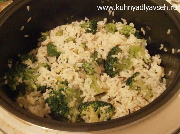 брокколи с рисом в мультиварке