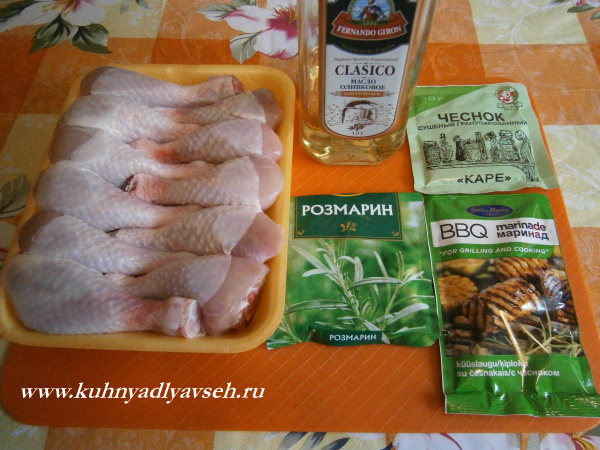 голень куриная в чесночном маринаде
