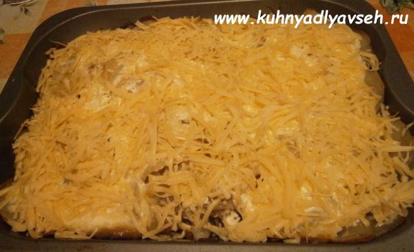 куриные окорока с картофелем и сыром