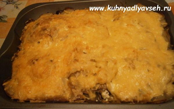 окорочка в духовке с картошкой с сыром в духовке