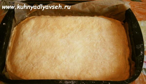 рыбный пирог из бездрожжевого теста