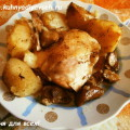 курица с грибами и картофелем