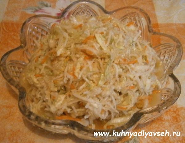 салат из пекинской капусты с редькой