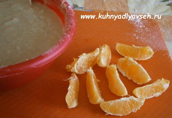 пирог с ананасом и апельсином