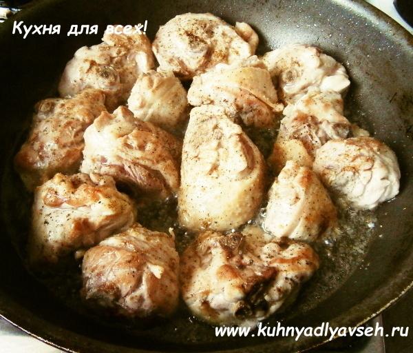 курица с лечо и фасолью