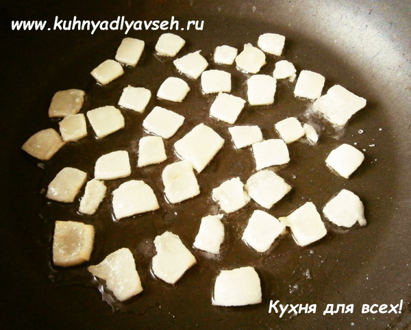 картофель жареный на сале