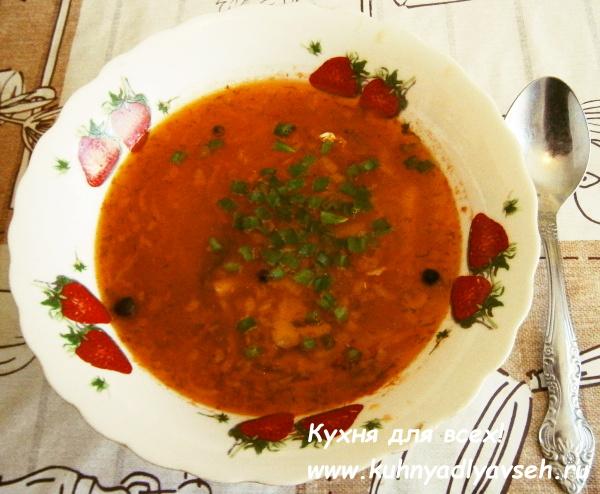 суп рыбный с тюлькой