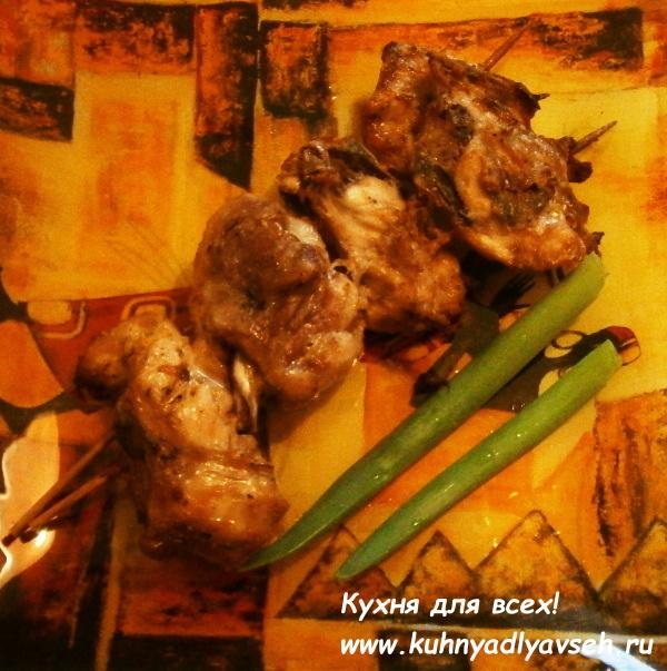 шашлык из курицы в аэрогриле