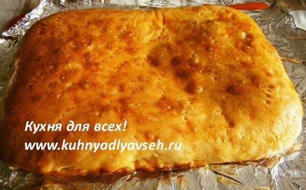 Фокачча с сыром кинзой и базиликом