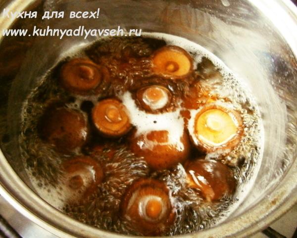 Пшённая каша с грибами шиитаке в мультиварке