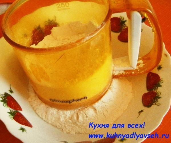 Пирог с ананасом и амарантом