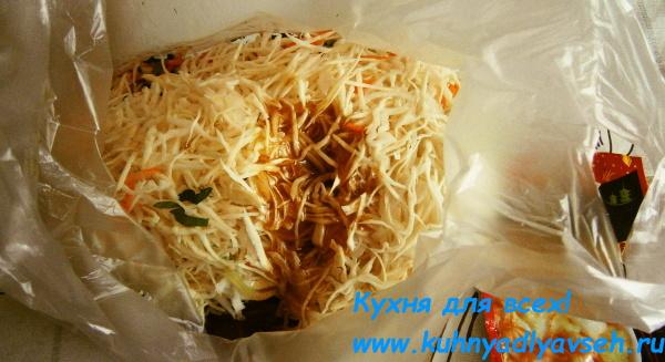 Салаь из капусты по-корейски
