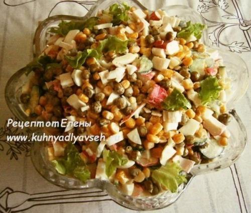 Салат крабовый