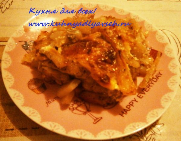 Курица с картофелем под фольгой