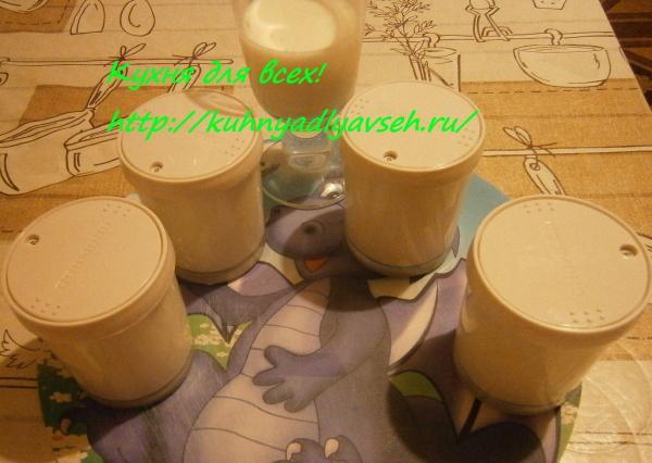 Йогурт в мультиварке и без закваски