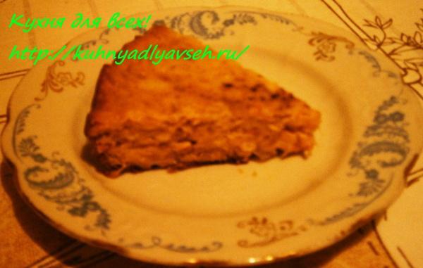 Ленивый капустный пирог в мультиварке