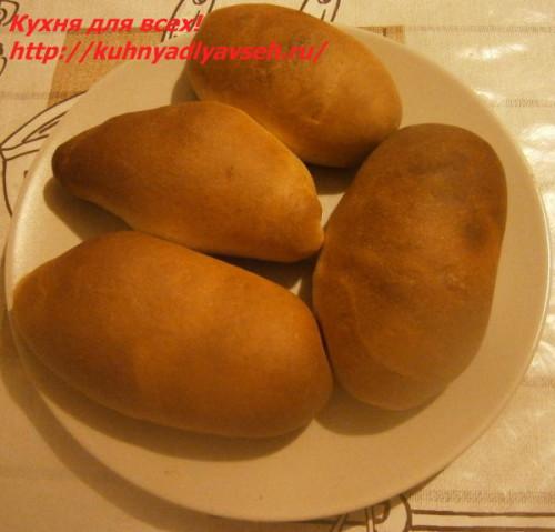 Пирожки с начинкой из печёночного паштета в духовке