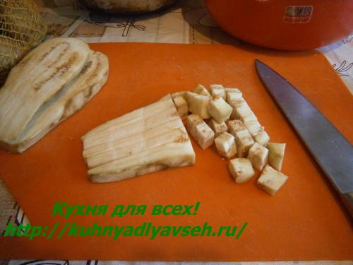 Закуска из баклажанов с болгарским перцем